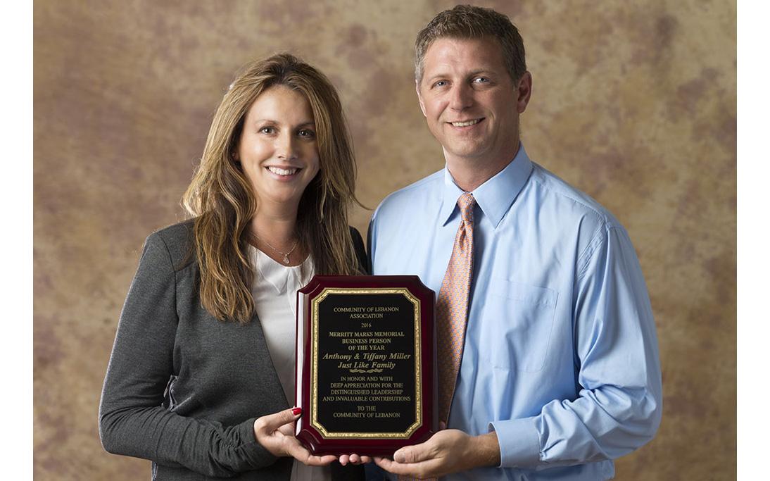 Tiffany and Tony Miller-award