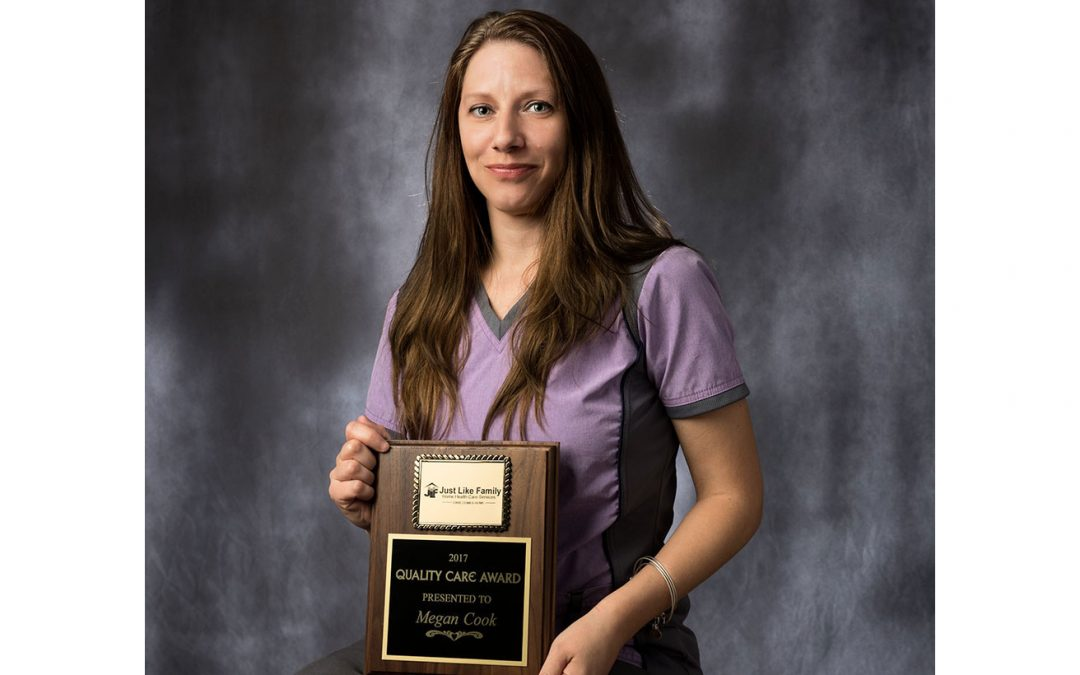 Megan Cook awarded with 2017 'Quality Care' Award